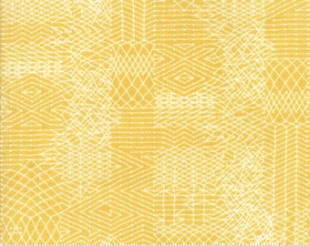Biscuits and Gravy - You Be You in Basket Yellow: sku 30484-14 cotton quilting fabric by BasicGrey for Moda Fabrics
