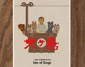Wes Anderson ISLE OF DOGS Movie Poster 16x12