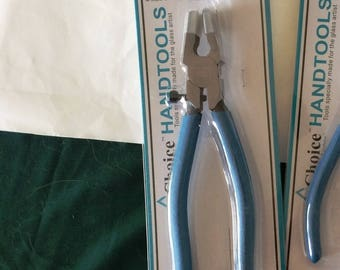 "Glass Breaking Tool - (smaller, lighter) CHOICE 8""  Metal RUNNING Pliers for Straight breaking of Glass score"