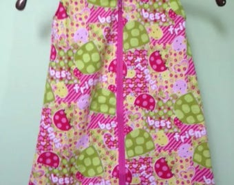 NEW-Flannel-LADYBUGS-Sleep Blanket Sleeper Sack-Newborn-Handmade-Last One