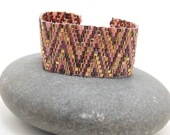Golden Sangria/ Peyote Bracelet/Beaded Bracelet/Handmade Jewlery/Valentine's Day/Accessory/Handmade Jewlery/Personalized Gift/Girls' Night