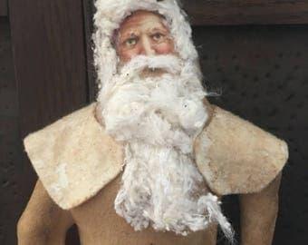 CustomerAppreciationSale Primitive Santa, Christmas, ready to ship
