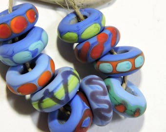 Lampwork  Beads NATURALS Two Sisters Designs 070717H