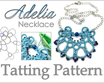 "Tatting Pattern ""Adelia"" Necklace PDF Instant Download"