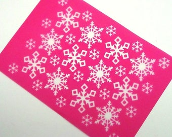 Snowflake D2 Silkscreen Design for polymer clay, paper, fabric and more