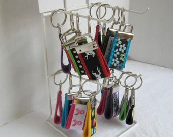 Mini Key Fob Grab Bag - Qty 100 - Display Rack Included - Wholesale Pricing - Fundraisers - Small Key Chains Mystery Listing - HALF OFF