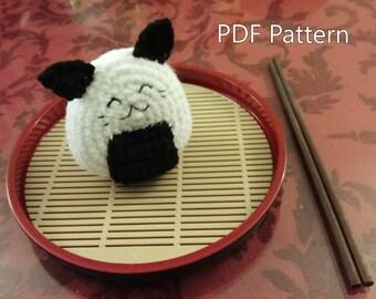 Crochet PDF Pattern - Onigiri Sushi Cat
