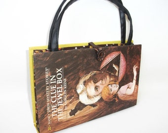 Nancy Drew Book Purse The Clue in the Jewel Box Handbag Vintage Book Purse