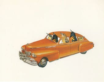 Baltimore or bust.  Collage print by Vivienne Strauss.