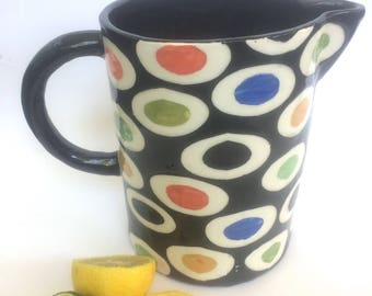 Fruity Ceramic Pitcher- Ready for Shipping