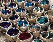 Raku Ceramic Cabochon Raku Jewelry Supply Handmade by MAKUstudio