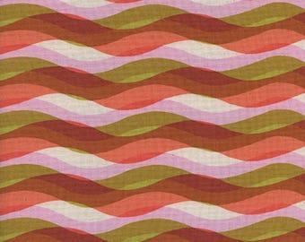 Cotton + Steel Poolside - waves - pink - 50cm - PRE-ORDER