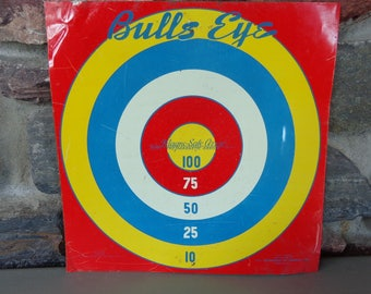 Vintage Magne-Safe-Arrow Play Ball & Bulls Eye Metal Game Board by Toy Enterprises