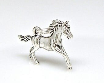 Welcome Summer Sale Horse Galloping Sterling Silver Charm Pendant Customize no. 2254