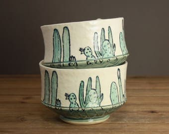Cactus Garden Bowl| Succulents| Gift for the Gardener