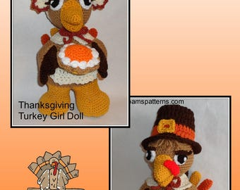 PDF Turkeys Crochet Patterns, crochet bird, crochet thanksgiving, amigurumi crochet