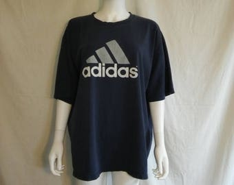 Closing Shop 40%off SALE ADIDAS 90s t shirt,  faded grunge Adidas t shirt, Over sized Adidas t shirt XL