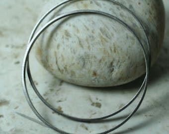 Extra large antique silver tone O ring 55mm outer diameter, 3mm wide, 1mm thick, 2 pcs (item ID BBBK55-D)