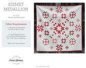 Modern Quilt Pattern - Kismet Medallion - PDF