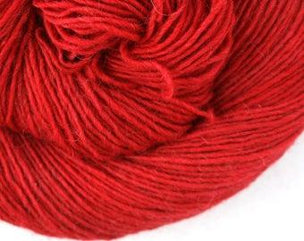Olana fingering weight cormo alpaca angora blend yarn 300yds/274m 2oz/57g Bing Cherry