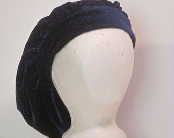 Velvet Mob cap Medieval tam beret