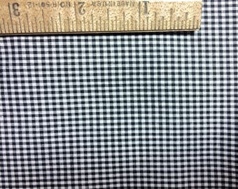 Vintage gingham fabric Tiny checkered black white fabric doll dress fabric gorgeous vintage 5 yards