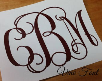 New Bride Monogram Car Decal/Yeti Decal/Laptop Computer Decal