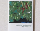 "PETER PAN ""off to neverland!"" faerie tale feet greeting card with envelope blank inside original illustration"