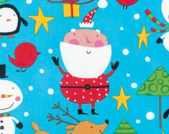 "Designer David Walker's ""Merry Christmas""  NORTH POLE in Merry Blue, yard"
