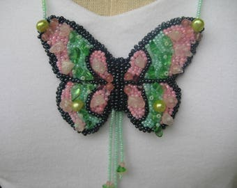 Beaded Butterfly Necklace