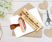5x5 Custom Sized Wood Mounted Rubber Stamp Your logo, art,or idea. Business Stamp Wedding Stamp Paper Crafting Stamp Personalized