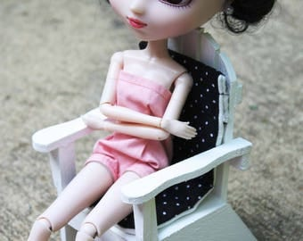 Playscale 1:6 Blythe Pullip Barbie YoSD Adirondack Chair in White or Green