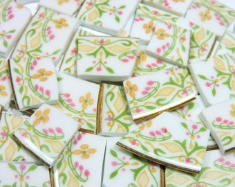 Mosaic Tiles - PeTiTE FLeUR made in France - 100 Broken China Mosaic Tiles