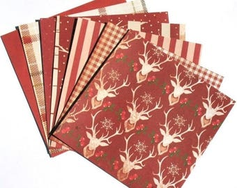 50% OFF - Red - 6x6 Recollections Sleigh Bells Ring Scrapbooking Paper Pack
