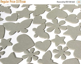 50% OFF - Silhouette - Assorted Chipboard Die Cuts - Stars, Butterflies, Hearts and Flowers