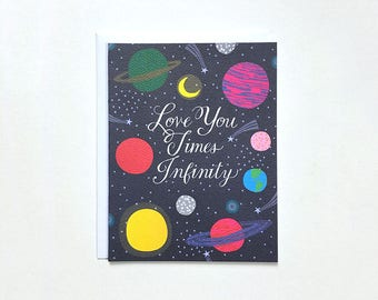 Love You to Infinity Note Card