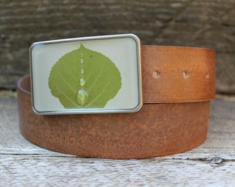 dewy green aspen in cream buckle