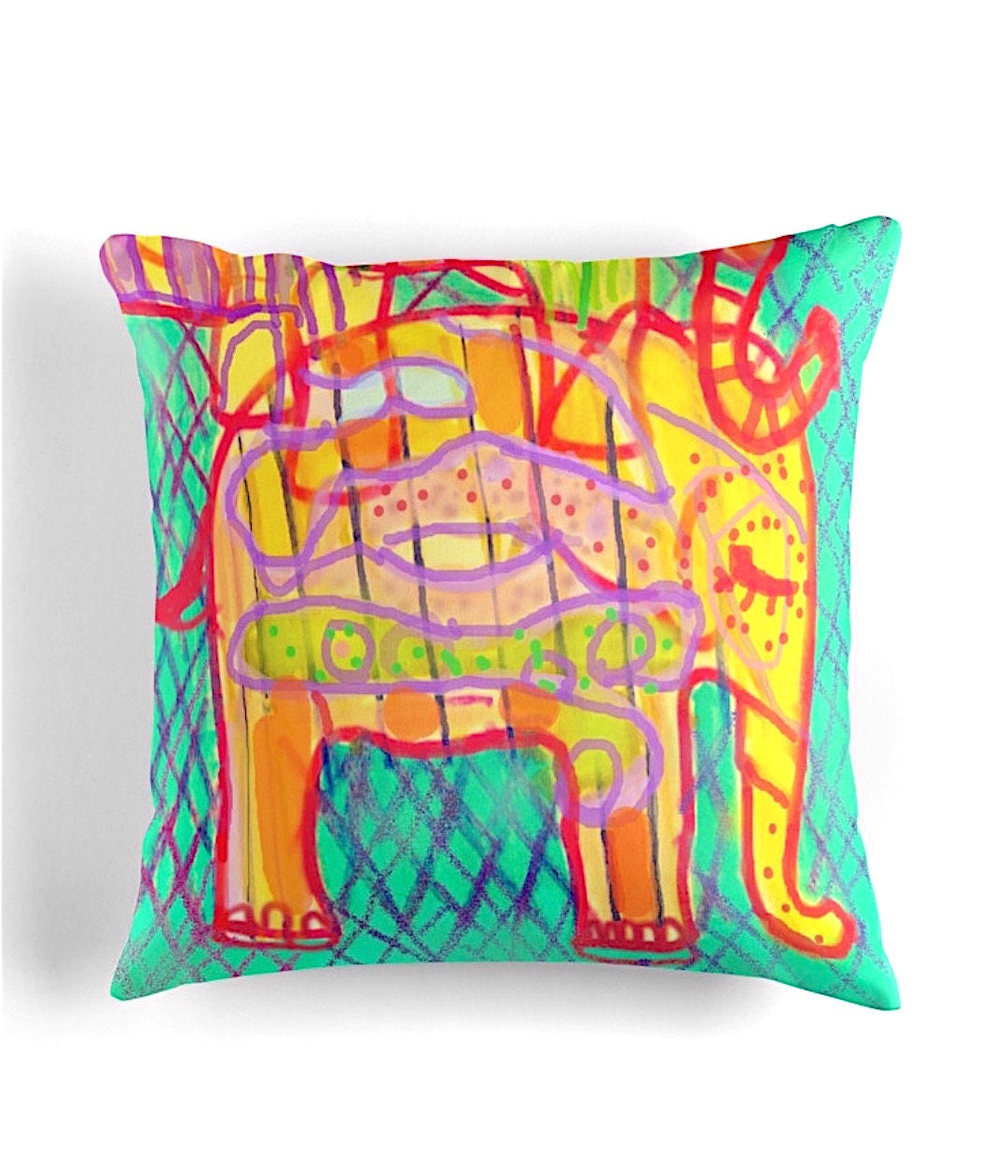 Elephant Throw Pillow home decor printed throw cushion 41x41cm 16