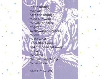 Poetry Postcard--In the Turning