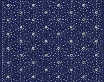 Yokota Asanoha Sashiko Fukin Japanese cotton sashiko sampler kit NAVY BLUE 843S-202