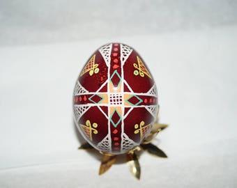 Beautiful Pysanky Chicken Egg