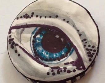 Handmade clay eye eyeball cabochon spirit dolls doll parts   jewelry craft supplies  handmade clown cabochon body polymer