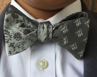 PJs Designs 100% Silk Bow Tie JW/ Best Life Ever Print