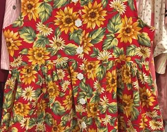 90s Sunflower Dress Girls 7/8