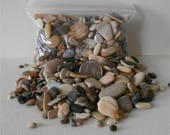 Pebble Art~Craft Rocks,3 to 5 Bags Flat Rate Shipping,Small Assorted Sand Stones,Pebbles, Miniature Garden,Floral Supply,,Fairy Garden,Craft