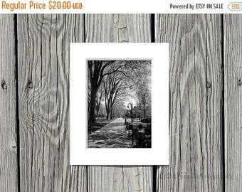 40% OFF SALE Black and White Photograph, Penn State Photo, Elm Trees, Path, Campus, 5x7 inch Print Matted to 8x10 inches -Timeless