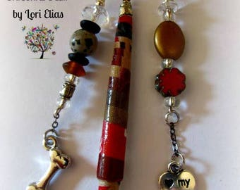 Paper Bead Sweater/Scarf/Shawl Pin for Dog Lovers