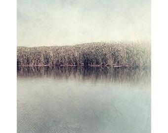 Landscape Art Print, Lake Photograph, Neutral Decor, Farmhouse Decor, Rustic Decor