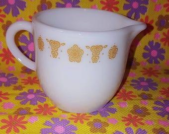 Butterfly Gold Pyrex Creamer Mug