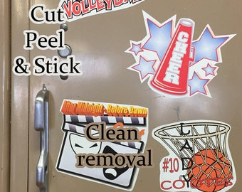 Color Decal - great for indoor use: Lockers, laptop, window, signage